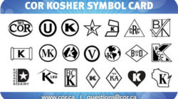 Depending on the issuing organisation, different symbols are used on the packaging of kosher products. Photo: Kashruth Council of Canada