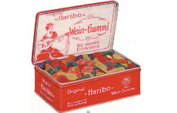 Haribo fruit gum tin from the 1930s